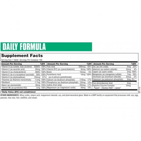 Daily Formula by Universal Nutrition-Pakistan